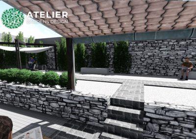 Návrh zahrady vnitrobloku Palmovka