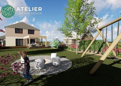 Návrh zahrady rodinného domu – Klánovice